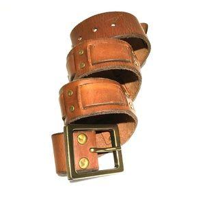 Cognac belt size large
